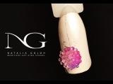 Нежный зимний маникюр: дизайн ногтей с бульонками  / Gentle winter nail art tutorial