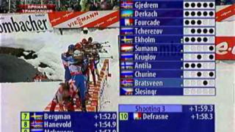 Биатлон. Кубок мира 2007-2008. 2 этап. Хохфильцен. Мужская гонка преследования