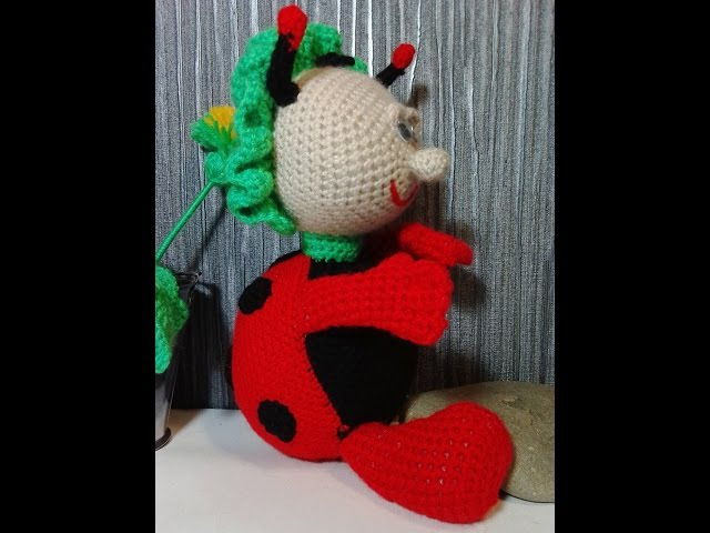 Божья коровка, ч.1. Ladybug, р.1. Amigurumi. Crochet.
