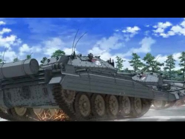 Girls und Panzer Drifting (Initial D)