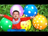 Learn colors Wet balloons for kids And Finger Family nursery rhymes songs for children