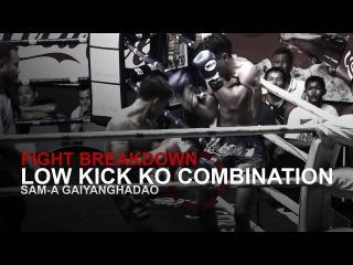 MUAY THAI FIGHT BREAKDOWN: Powerful Leg Kick KO! | Evolve University muay thai fight breakdown: powerful leg kick ko! | evolve u