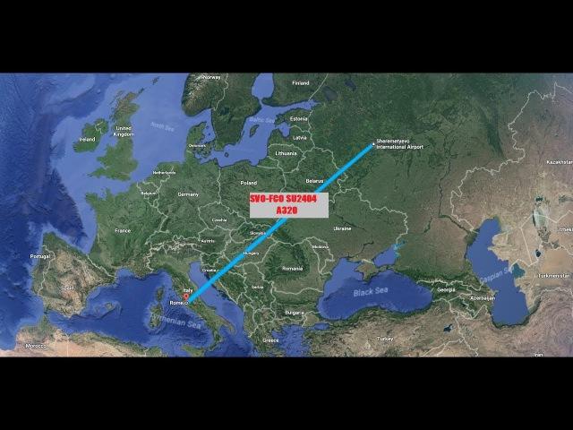 AEROFLOT FLIGHT MOSCOW-ROME. SVO-FCO SU2404