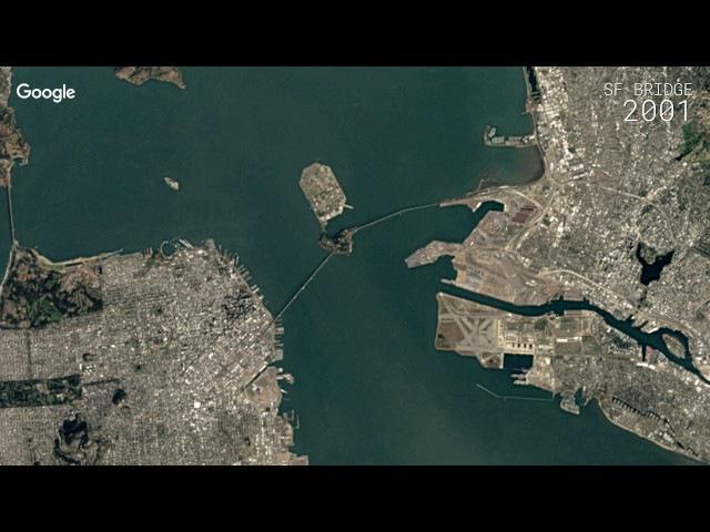 Мост Окденд Бэй Бридж в Сан-Франциско, Калифорния, США vjcn jrltyl ,'q ,hbl; d cfy-ahfywbcrj, rfkbajhybz, cif