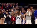 Joel Embiid Block Seals Victory for 76ers  01.18.17 #NBANews #NBA