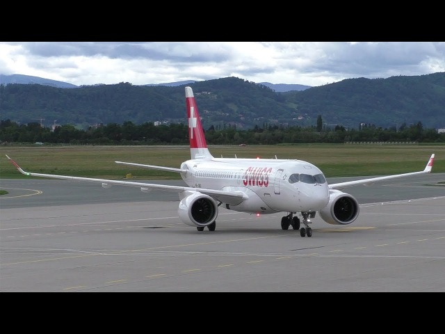Swiss CS100 landing at Graz Airport | HB-JBD