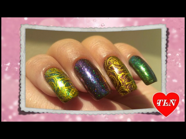 Голографические хлопья с AliExpress Born Prettyстемпинг/ Holographic flakesstamping design