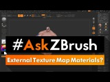 "#AskZBrush: ""How can I apply an external Texture Map to a Subtool and keep the existing Materials?"""