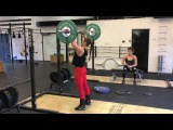 Strict press 35 x 12 reps by Jacqueline Dahlstr