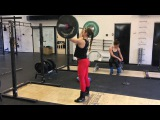 Touch and go push-press 45 x 15 reps by Jacqueline Dahlstr