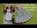 Vestido de piñas para Barbie a crochet parte 1