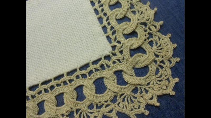 Orilla 9 Circulos en Crochet parte 1 de 2