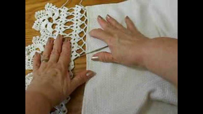 Orilla 1 como tejerla a la tela