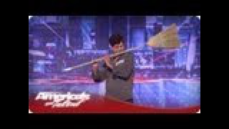 Michael Nejad Makes Music with a Broom and Dustpan America's Got Talent Season 7 Audition