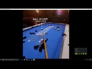 Бильярд в виртуальной реальности: чемпион мира не смог сделать удар по шару
