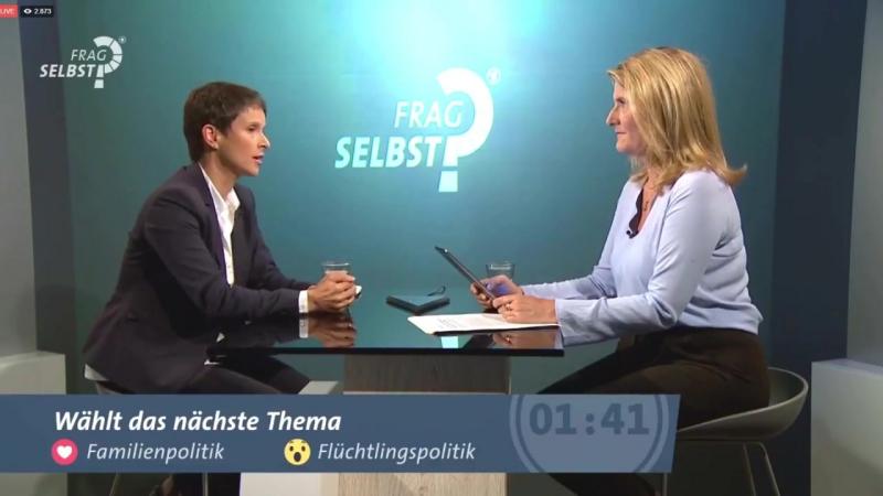 Frauke Petry AfD bei ARD FragSelbst war einfach bravourös