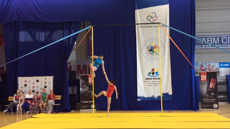 Максимова Марина и Фетина Оксана, спорт на пилоне, 1 место, Дуэты, Elite 2017