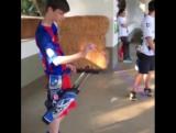 Archery quiver trick shot