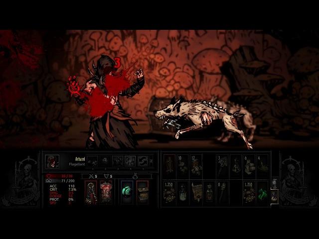 Darkest Dungeon - Flagellant vs Cauldron Hag Witch