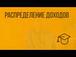 Распределение доходов. Видеоурок по обществознанию 8 класс