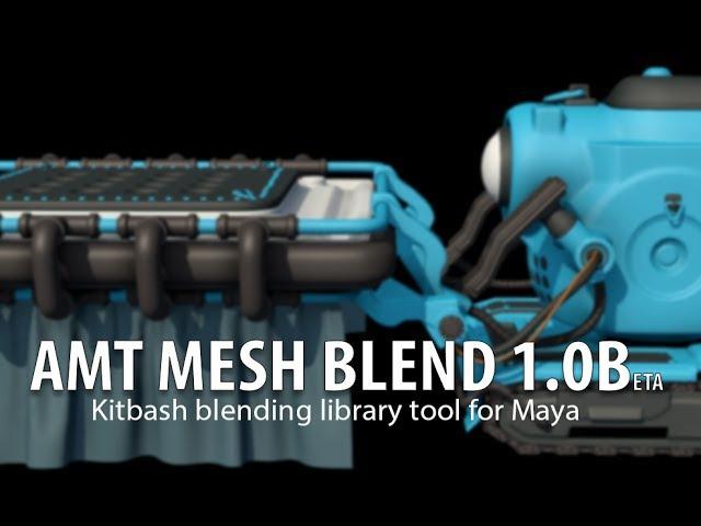 MESH BLEND Trailer : kitbash modeling tool for Maya
