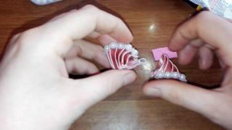 нарядный бант из лент канзаши\ DIY\ Laço De Fita Cetim/the ribbon bows