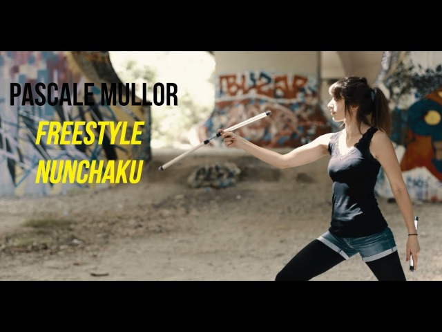 Amazing Freestyle Nunchaku Girl - Petit PatapOn -HD 2017- (DJI-X5 Osmo Raw)