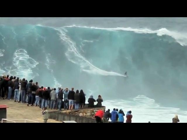 Самые большие волны в мире! (Назаре, Португалия) - Видео Dailymotion