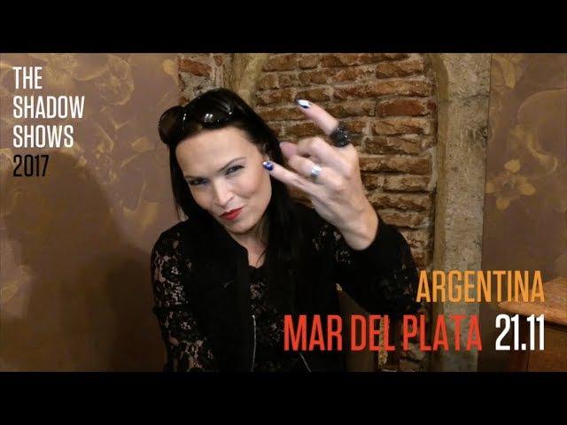 Анонс концерта Тарьи в Мар-дель-Плата, Аргентина.