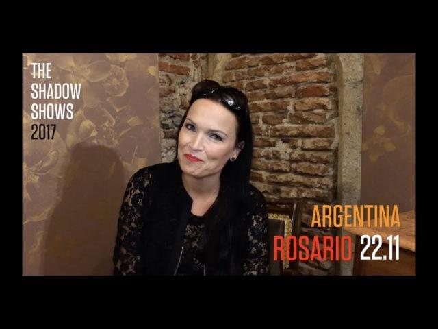 Анонс концерта Тарьи в Росарио, Аргентина.