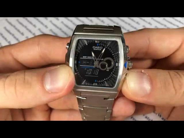 Как настроить часы Casio EDIFICE EFA-120D-1A - инструкция по настройке от PresidentWatches.Ru