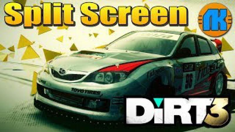 DiRT 3 \ Split Screen \ FORD MKII vs SUBARU WRX STI N12 В ДИРТ 3