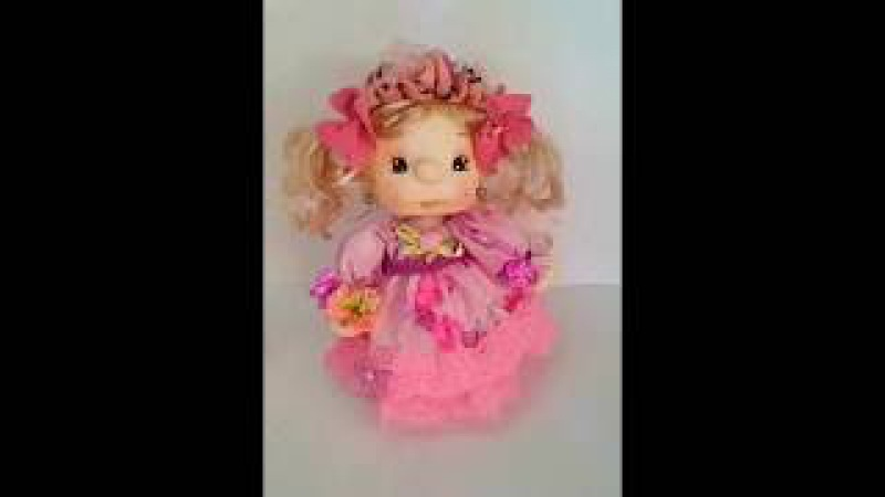 15 Tutorial Muñeca de tela sobre botella de plastico.Мастер класс .Кукла из ткани.