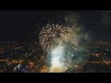 Праздничный салют Абакан Хакасия 9 мая 2017 День Победы Первомайская площадь 4K