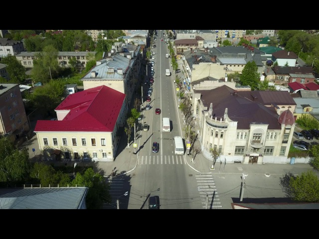 Сызрань с высоты 4k - ул. Советская
