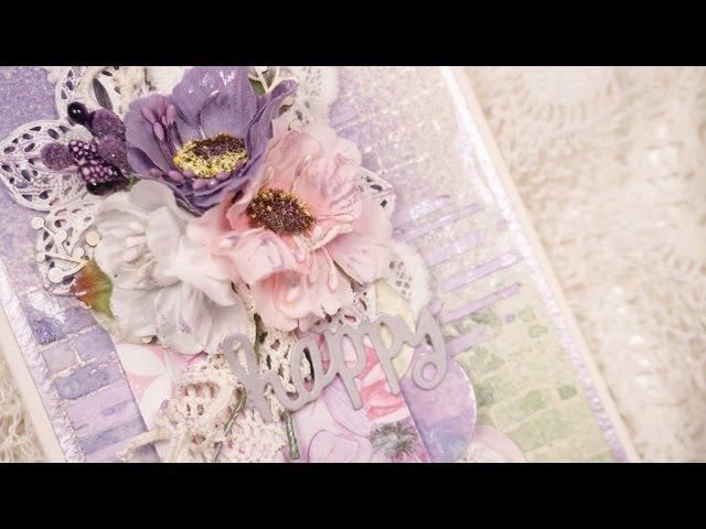 Весенняя открытка - Скрапбукинг мастер-класс / Aida Handmade