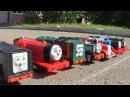 Паровозик Томас и его друзья сумасшедшие гонки поезда игрушки для мальчиков вид...