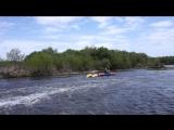 река Миасс, порог Ветреный. Тренировка оверкиля. Саша и Полина