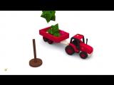 Мультики про машинки. Развивающий мультик про трактор и ёлочку. Новогодние мультфильмы для детей кукольный театр
