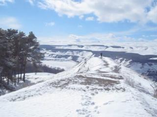 Панорама на Кисловодский парк с горы Малое Седло. март 2017.