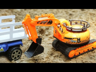 JCB Children Video JCB Excavator and Truck w Crane New Diggers Trucks Cartoon for Kids