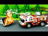 Meraklı İtfaiye arabası, Polis arabası ve Yarış arabası - eğitici çizgi film - türkçe