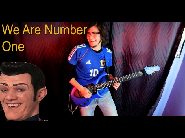 We Are Number One but it's a metal version with guitar solos and short hair