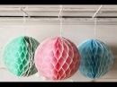 Paper Crafts: How to make a Paper Honeycomb Ball DIY 2017 - 2018