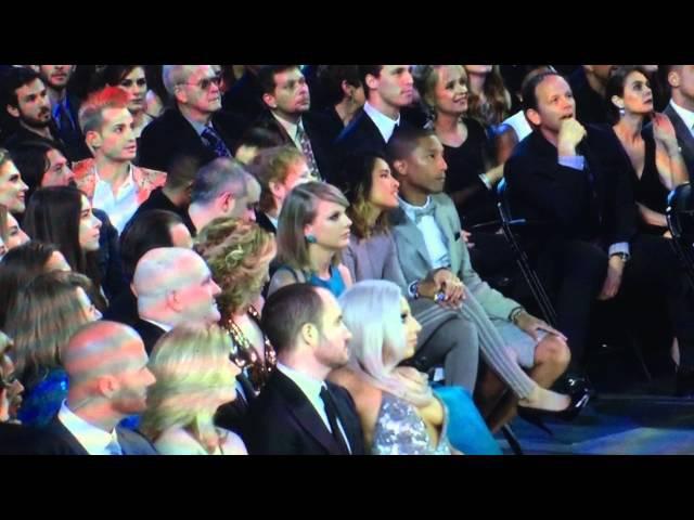 Taylor Swift Lady Gaga Pharrell Williams at Grammy Awards 2015
