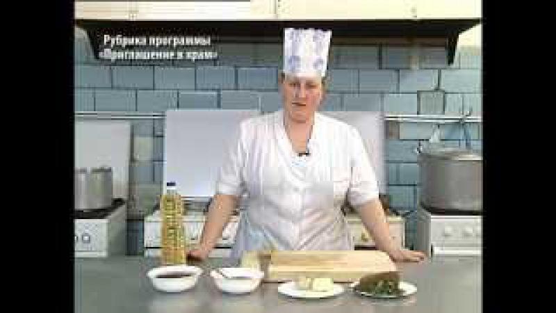Православнай кухня. Рассольник из фасоли от повара семинарской трапезной.Православная кухня.
