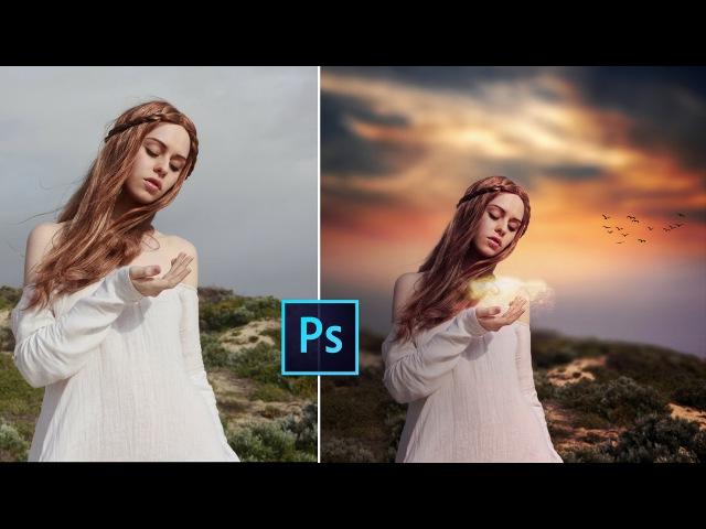 Photoshop CC Tutorial - Fantasy Sunset Color Effects | Photoshop Tutorial