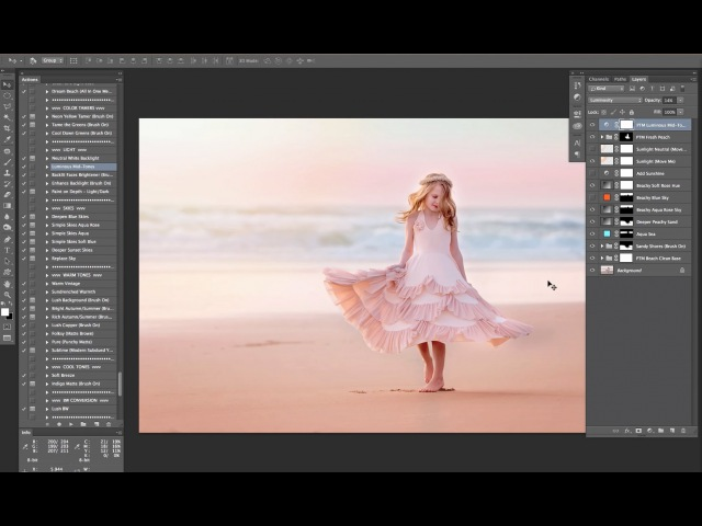 Dreamy Beach Edit in Photoshop With Added Sky and Sun Overlay
