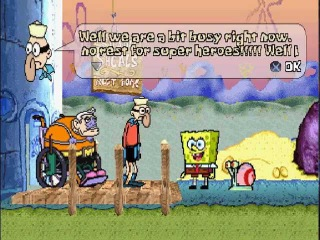 SpongeBob SquarePants - SuperSponge PS1 Gameplay