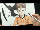 Speed Drawing - Nishinoya Yuu (Haikyuu!!)